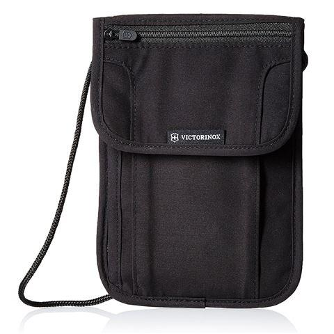 VICTORINOX  |  Deluxe Concealed Security Pouch with RFID Protection - Black