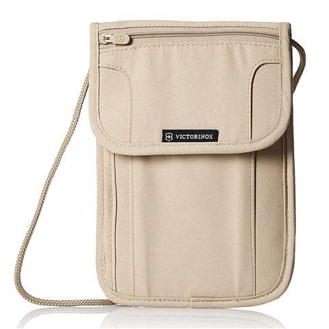 VICTORINOX  |  Deluxe Concealed Security Pouch with RFID Protection - Beige