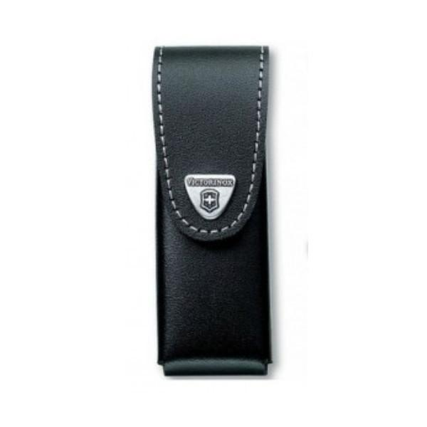 VICTORINOX |  Leather Knife Pouch with Rotating Metal Belt Clip - Black - 4.0524.31