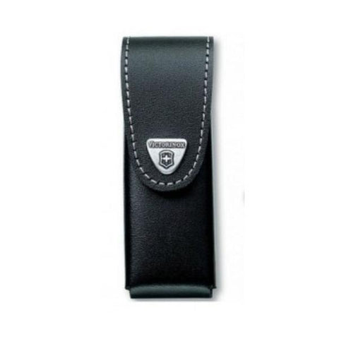 VICTORINOX |  Leather Knife Pouch with Rotating Metal Belt Clip - Black