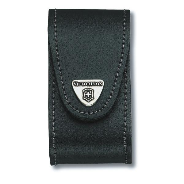 VICTORINOX | Leather Belt Knife Pouch  - Black - 4.0521.3