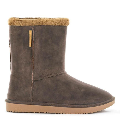BLACKFOX | Cheyenne Adult Waterproof Fur Lined Outdoor Gumboot - Brown