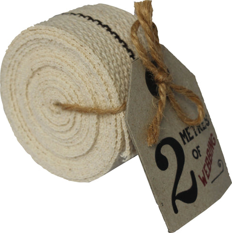 EAST OF INDIA  | Hessian Webbing 2 metres - Cream