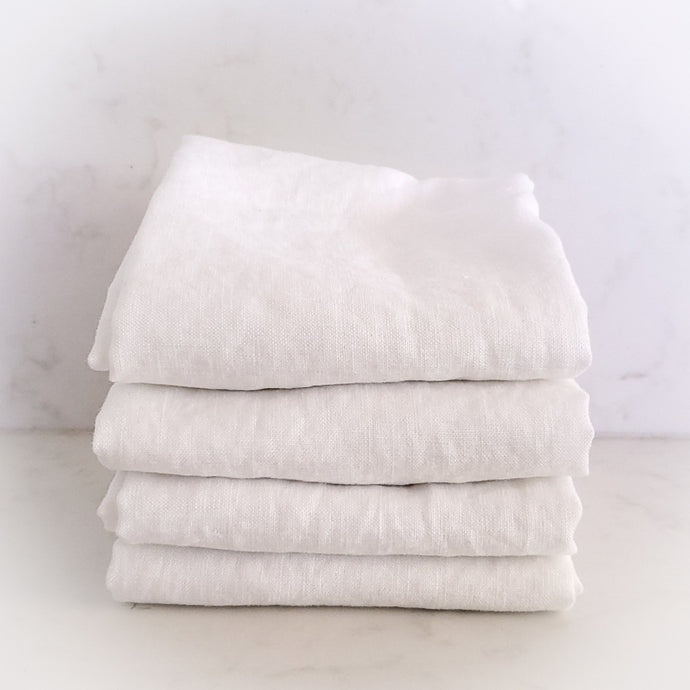 MARC OLIVER | Cloth French Linen Napkin, 4 pack - White