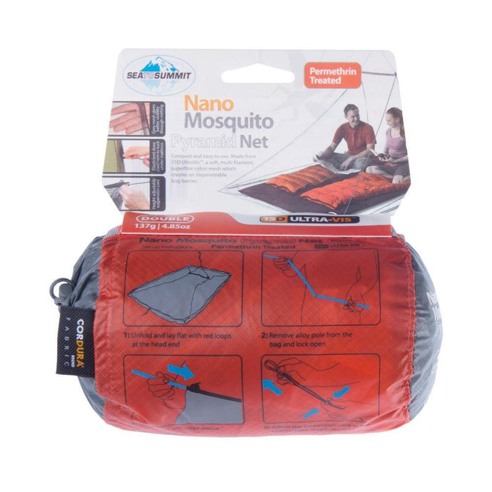 SEA TO SUMMIT | NANO Lightweight Mosquito Net Pyramid Tent -Double Permethrin