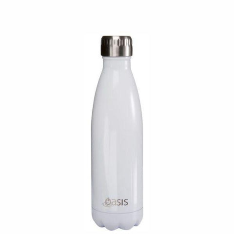 OASIS Water Bottle 500ml Stainless Insulated - White