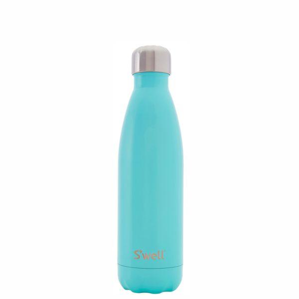 S'Well | Insulated Stainless Steel Bottle SATIN Collection 500ml - Turquoise Blue