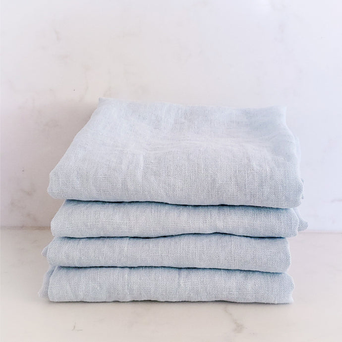 MARC OLIVER | Cloth French Linen Napkin, 4 pack - Blue Grey