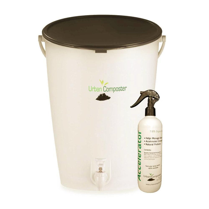 URBAN COMPOSTER™  |   'Bucket' Beginner's Kit 15L - Black