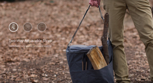 Biolite BaseCamp Carry Pack in use
