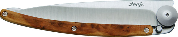 DEEJO KNIFE | Classic Wood 37g - Juniper closed 2