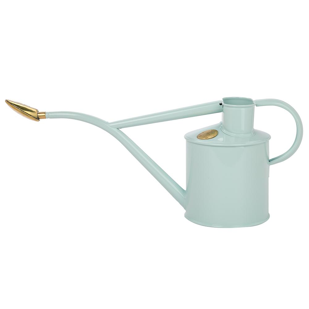 HAWS | Metal Indoor Plant Watering Can in Gift Box 1 Litre - Duck Egg Blue