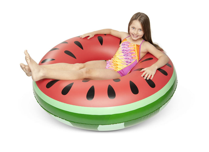 Girl on BIG MOUTH -EDC | Giant Pool Float - Watermelon