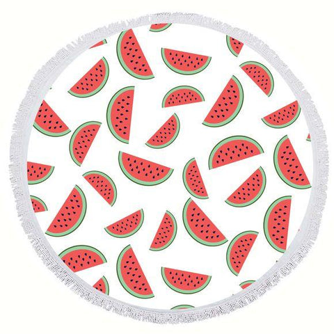 BIG MOUTH -EDC | Round Towel - Watermelon
