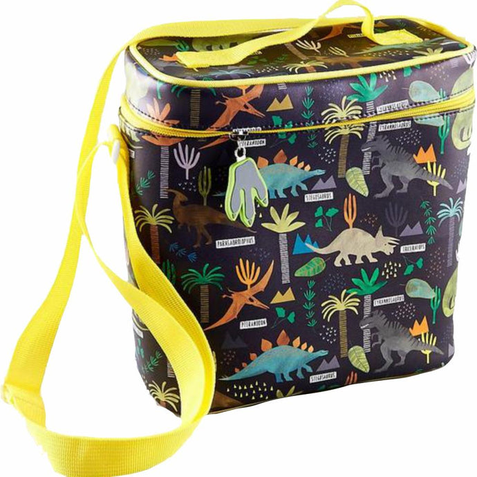 FLOSS & ROCK UK  Insulated Lunch Bag with Detachable Strap & Bottle Holder - Dinosaur Jungle