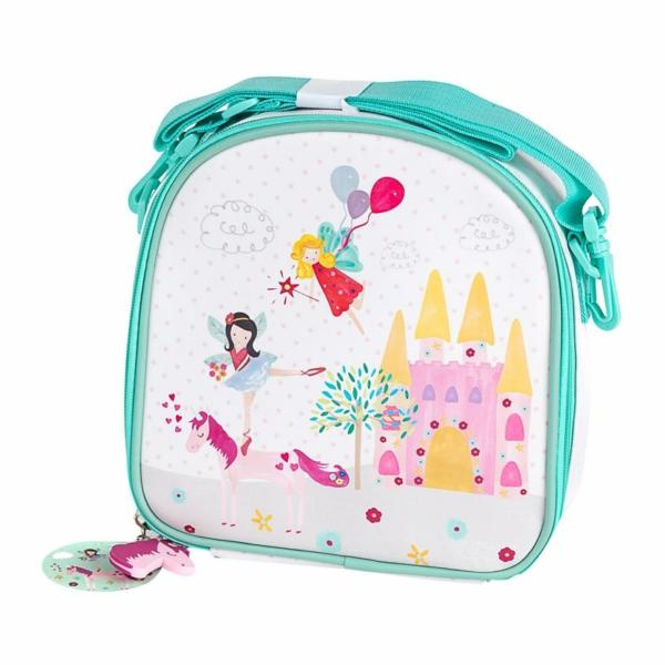 FLOSS & ROCK UK  Insulated Lunch Bag with Detachable Strap & Bottle Holder - Fairy Unicorn