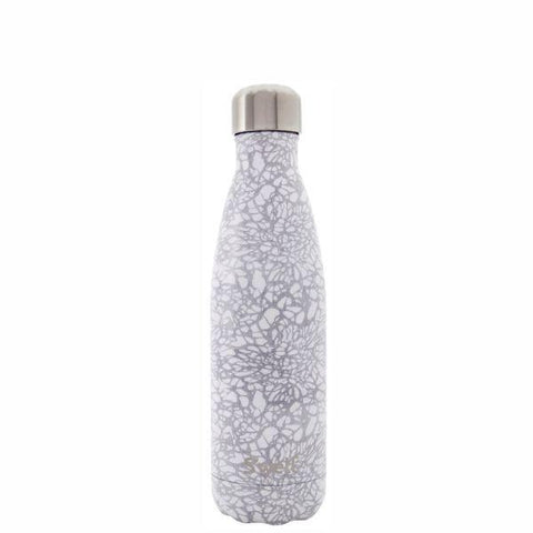 S'Well | Insulated Bottle MONOCHROME Collection 500ml - White Lace
