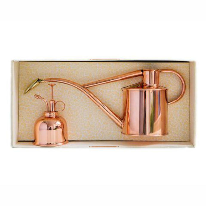 HAWS | Classic Plant Watering Set - Copper 1 Litre Can & Copper Mister