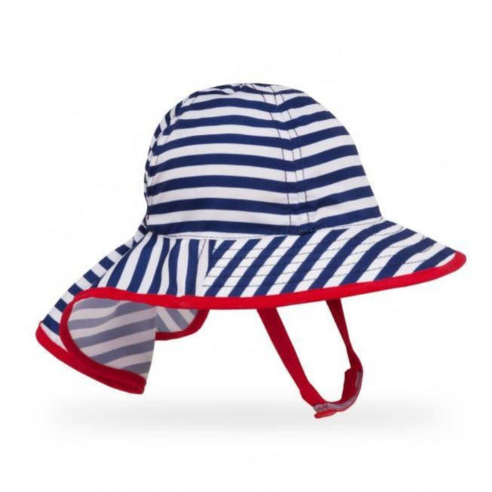 SUNDAY AFTERNOONS | Infant SunSprout Hat - Navy / White Stripe