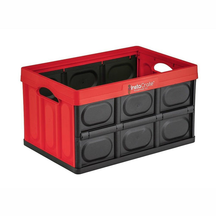 INSTACRATE™ by GREENMADE | Collapsible Crate - Red / Black