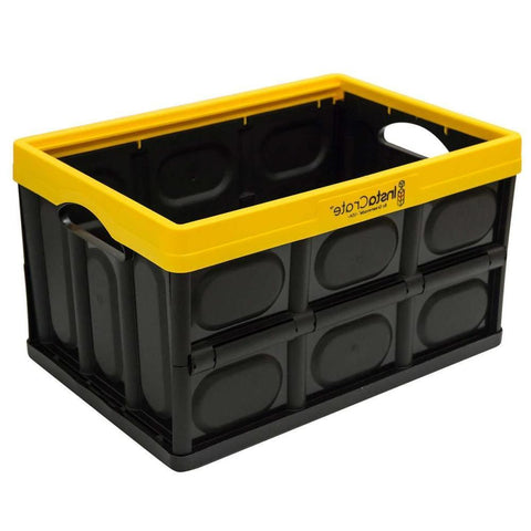 INSTACRATE™ by GREENMADE | Collapsible Crate - Yellow / Black
