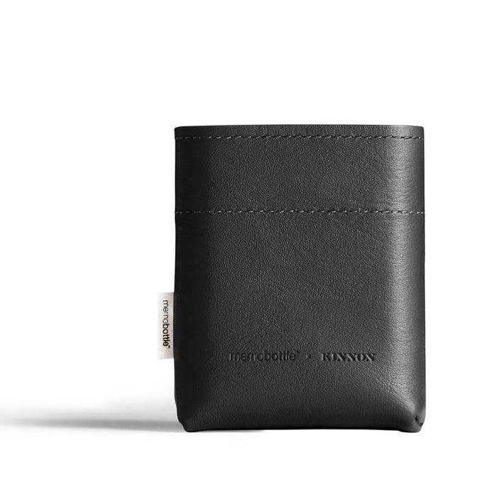 MEMOBOTTLE | Leather Sleeve A7 - Black