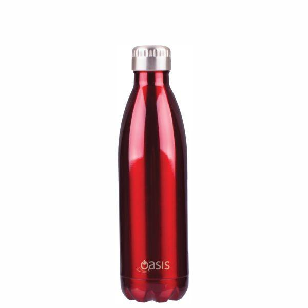 Oasis  |  Stainless Insulated Water Bottle 500ml - Red