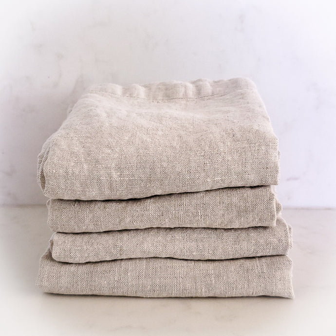 MARC OLIVER | Cloth French Linen Napkin, 4 pack - Natural