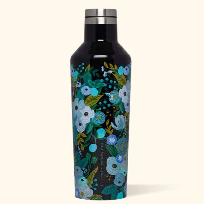 CORKCICLE x RIFLE | Stainless Steel Insulated Canteen 16oz (470ml) - Garden Party Blue