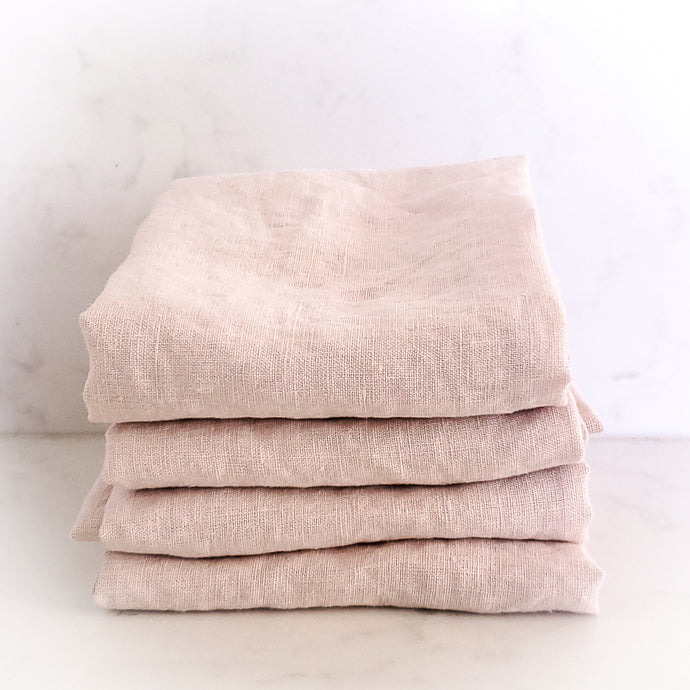 MARC OLIVER | Cloth French Linen Napkin, 4 pack - Pink