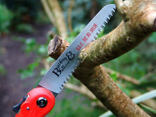 Load image into Gallery viewer, BURGON & BALL  |  Folding Pruning Saw - RHS Endorsed in action