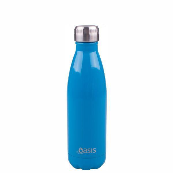 OASIS Drink Bottle 500ml Stainless Insulated - Fluro Blue