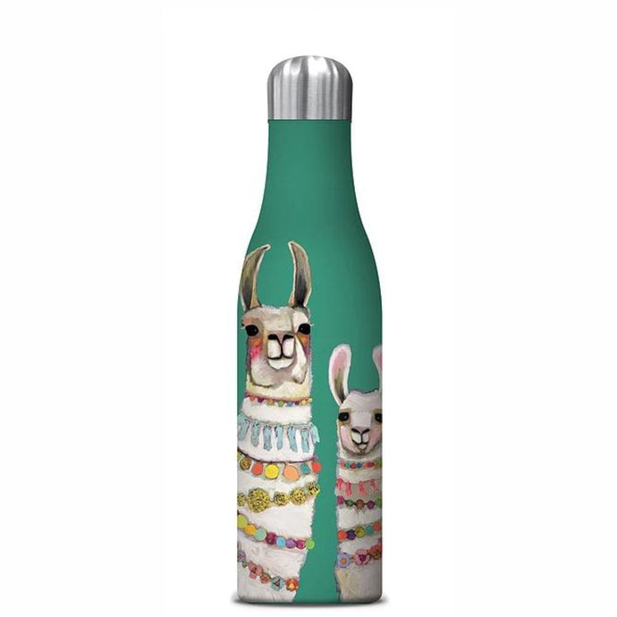 STUDIO OH  |  Insulated Water Bottle 500ml - Boho Llama Duo