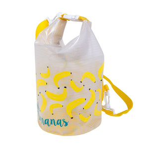 SUNNYLIFE | Kids Bucket Bag SMALL - CHASING SUMMER - Bananas rear view