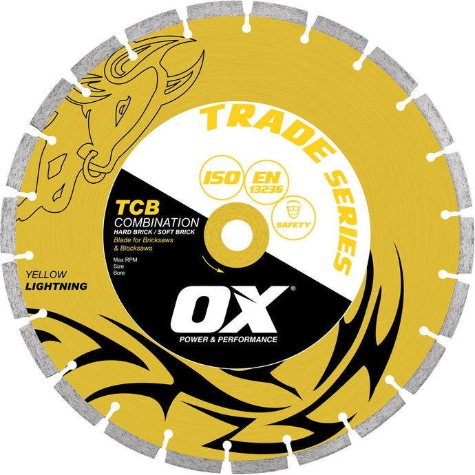 OX Trade TCB 50/50 Combination Segmented Diamond Blade - Brick Saw