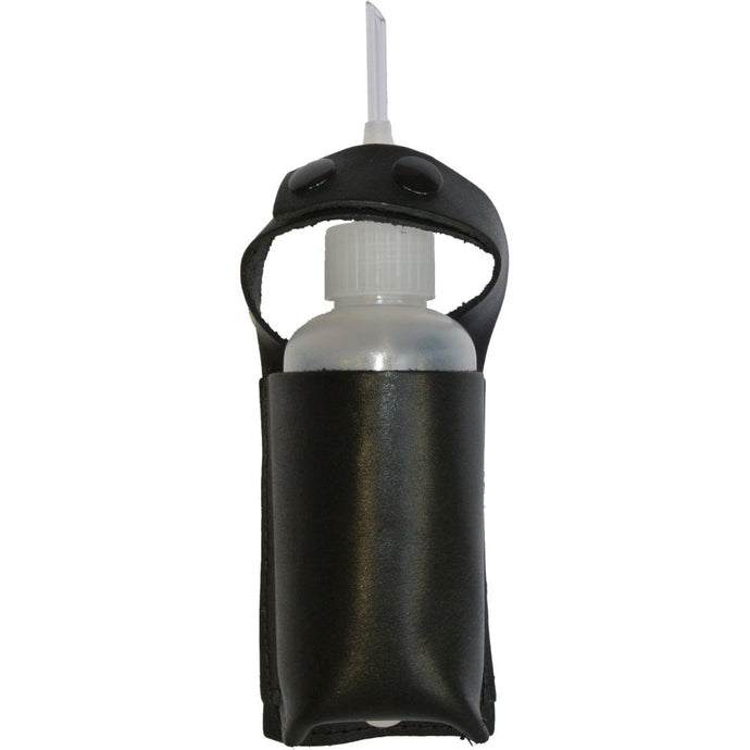 Gold guzzler bottle in pouch