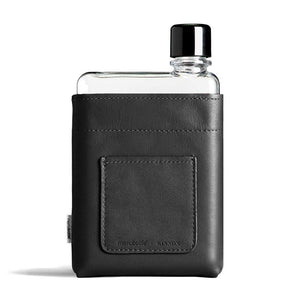 MEMOBOTTLE | Leather Water Bottle Sleeve A6 - Black