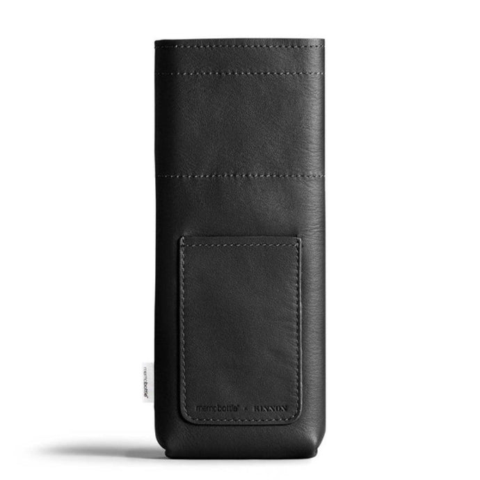 MEMOBOTTLE | Leather Water Bottle Sleeve Slim - Black