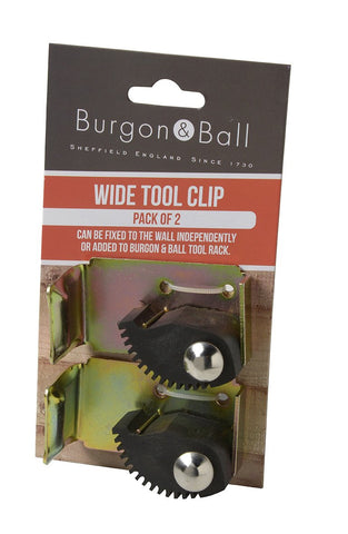BURGON & BALL  |  Wide Tool Clips - 2 Pack