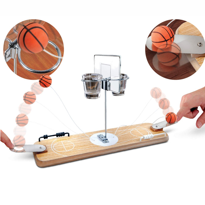 REFINERY & CO | Wooden Tabletop Basketball Game