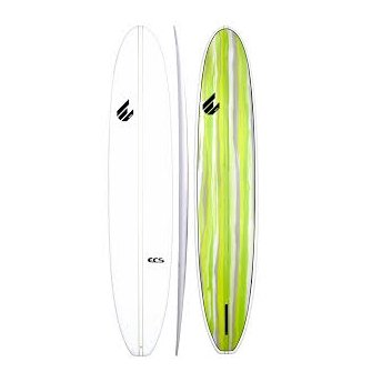 ECS 9'4 Double Stringer Longboard (White/Green) - KS Boardriders | Philippines Online Branded Clothes & Surf Shop