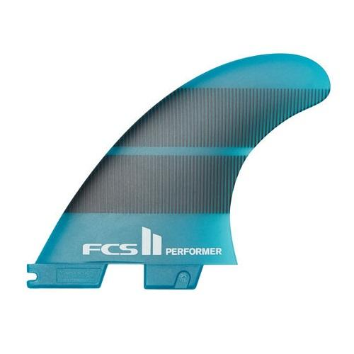 FCS 2 Performer Neo Glass Teal Gradient Small Tri Fin Set - KS Boardriders | Philippines Online Branded Clothes & Surf Shop