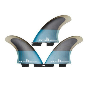 FCS 2 Performer Performance Core Teal/Black Medium Tri Fin Set - KS Boardriders | Philippines Online Branded Clothes & Surf Shop