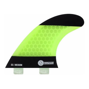 FCS Base, Shapers Thrusters Core Lite S5 Green Tri Fin Set - KS Boardriders | Philippines Online Branded Clothes & Surf Shop
