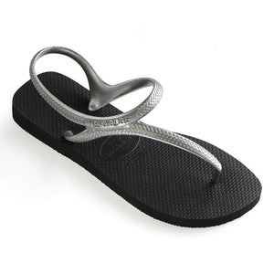 Havaianas Womens Flash Urban Black/Silver - KS Boardriders | Philippines Online Branded Clothes & Surf Shop