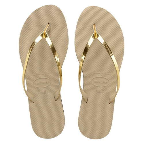 Havaianas Womens You Metallic Sand Grey/Light Golden - KS Boardriders | Philippines Online Branded Clothes & Surf Shop