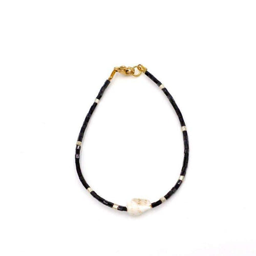 Isla PH Japanese Beads Bracelet with Cone Shell Black - KS Boardriders | Philippines Online Branded Clothes & Surf Shop