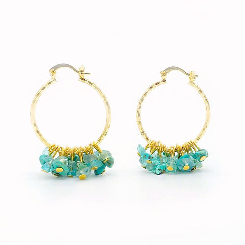 Isla PH Kailan Glass and Turquoise Beads Hoops Earrings - KS Boardriders | Philippines Online Branded Clothes & Surf Shop
