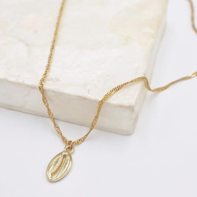 Isla PH Mini Gold Puka Charm Necklace - KS Boardriders | Philippines Online Branded Clothes & Surf Shop