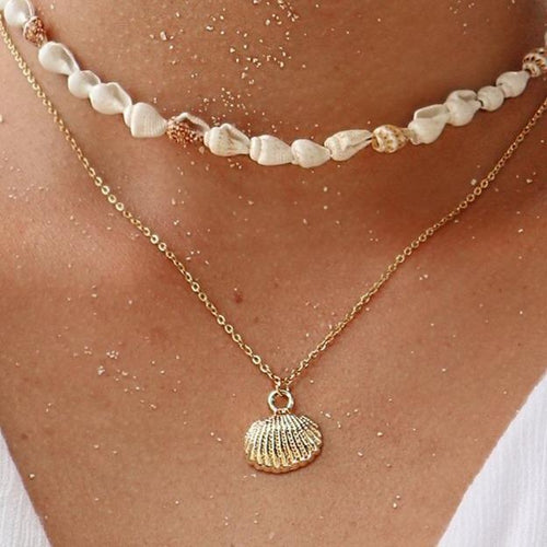 Isla PH Small Shell Gold Pendant Necklaces - KS Boardriders | Philippines Online Branded Clothes & Surf Shop